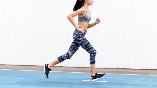 joelho da corredora